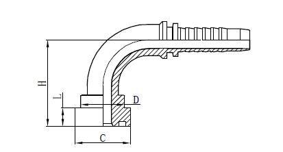 Dibujo de montaje de manguera 4SH