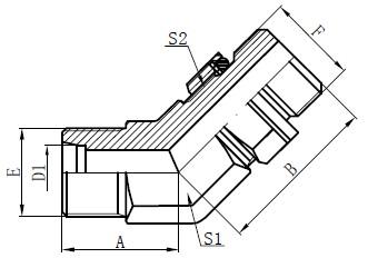 Dibujo de accesorios de perno ajustable