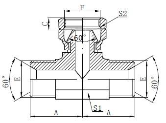 BSP Dibujo hidráulico en T