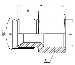 Dibujo de adaptadores de manguera estándar británico