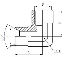 Dibujo de adaptadores de codo BSP