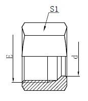 Dibujo de tuerca de retención de tipo pesado