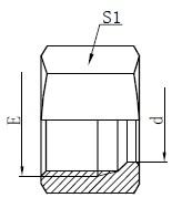 Dibujo de tuercas de retención hidráulica