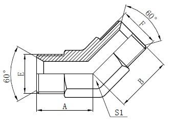 Dibujo de accesorios de tubo industrial