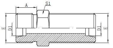Dibujo de conectores de mamparo métrico
