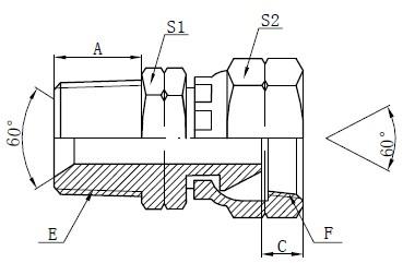 Dibujo de accesorios adaptadores NPSM