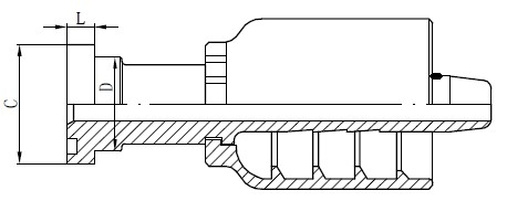 Dibujo del conector del tubo SS