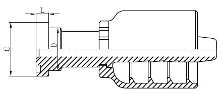 Dibujo de accesorios hidráulicos de acero inoxidable