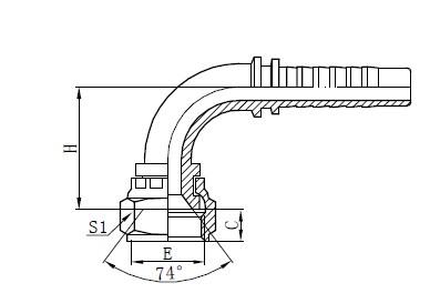 Conjunto de manguera trenzada de dos cables